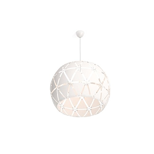 Philips Luminaire intérieur Smart volume Sandalwood suspension 80cm de diamètre blanc 1x60w
