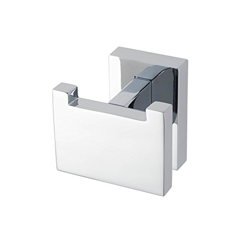 Haceka Edge Chrome Gancho Doble, Metal, Gris, 10x10x5 cm