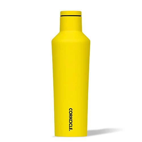 Corkcicle Neon Bottiglia isotermica, Acciaio Inossidabile, Yellow, 47 cl