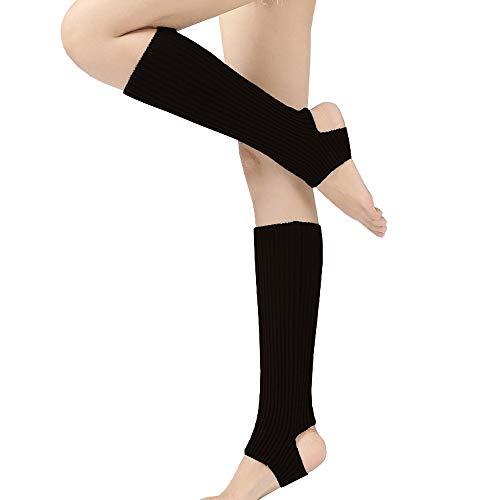 Vellette Mujer calentador de pierna calcetines de punto elástico cubierta de boot Calentadores de pierna
