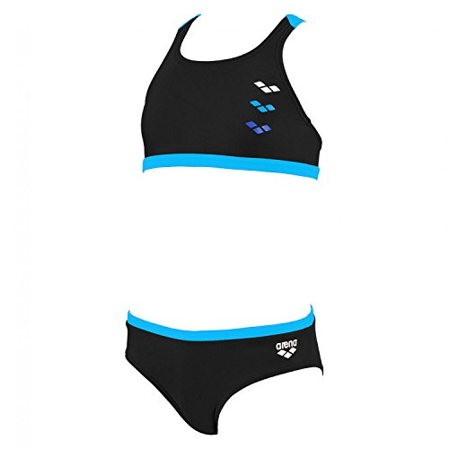 arena Mädchen Bikini Astrum, Black, Turquoise, 116, 1A593