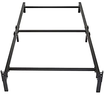 Amazon Basics Metal Bed Frame 6-Leg Base for Box Spring and Mattress - Twin 74.5 x 38.5-Inches Tool-Free Easy Assembly