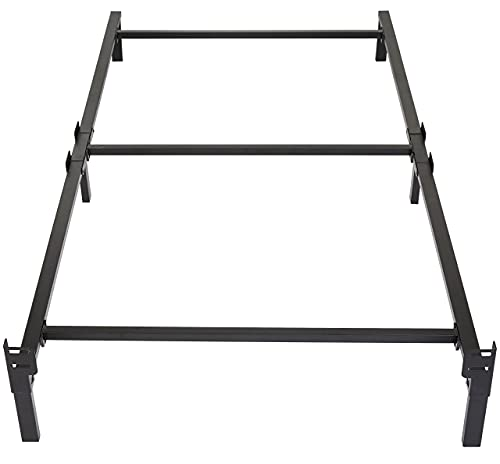 Amazon Basics Metal Bed Frame, 6-Leg Base for Box Spring and Mattress - Twin,...