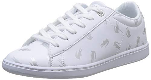 Lacoste Unisex-Kinder Carnaby Evo 419 1 Suc Sneaker, Weiß (White/Silver 108), 29 EU