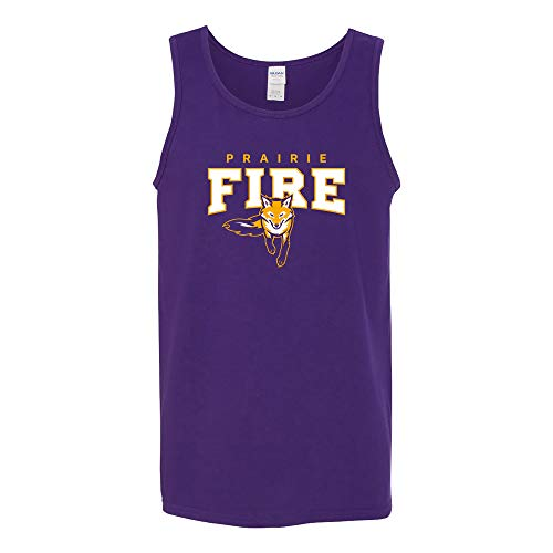 AT03 - Knox College Prairie Fire Arch Logo Tank TOP - Medium - Purple