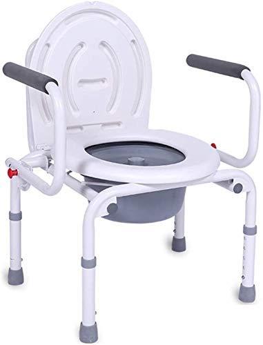 Z-SEAT Silla de baño de Ducha Ajustable con Inodoro portátil, Ancianos Embarazadas, Asiento de Inodoro para el hogar, Silla con Inodoro Reforzado, Elevador de Inodoro