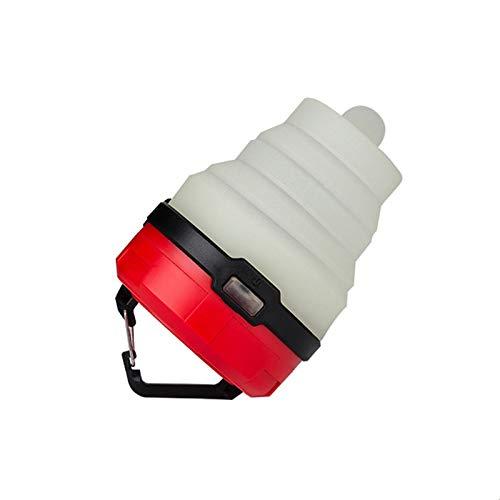 Luces De Camping Retráctiles, Mini Luces De Camping, Linternas Portátiles, Luces De Tienda Plegables, Luces De Ambiente Coloridas(Color:rojo)