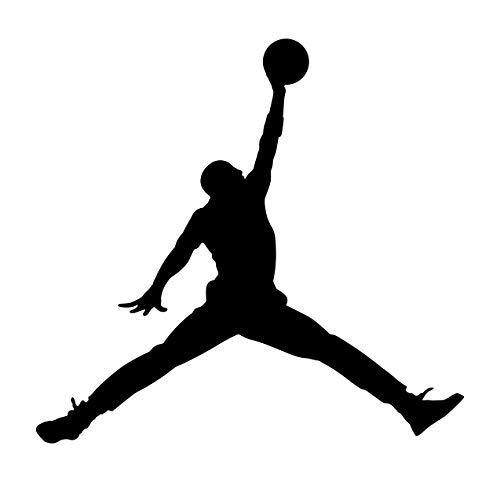 Adesivo Sticker Jordan - Pallacanestro - NBA - PC Portatile Auto - Moto - Scooter - Camion - Camper - Basket Simpatico Adesivo per Decorare CIO' Che Vuoi - Vinile di Alta QUALITA' - 10 X 12 CM Nero