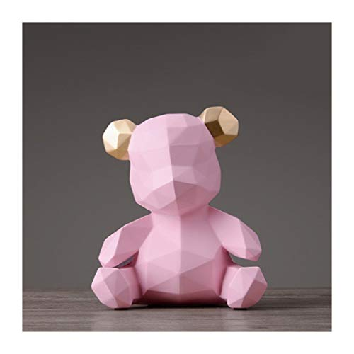 NYKK Contador Digital de Hucha Regalos creativos de la Osa Hucha de Resina Animal Hucha con Monedas Ahorro del Banco Pot Caja de Dinero de la decoración del hogar Banco de Dinero (Color : Pink)