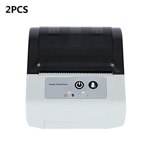 ZUKN Mini Portable 80MM Thermodrucker Mit Auto Cutter Wireless Bluetooth Und USB-Anschluss POS Bill Receipt Drucker Kompatibel Mit Android IOS Windows 2 Stück