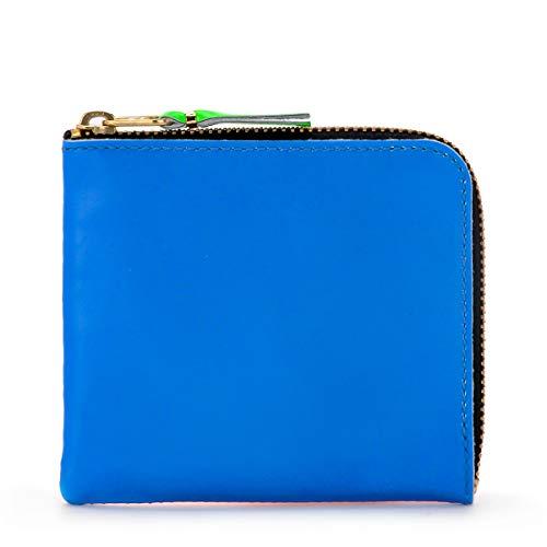 Comme Des Garçons Portemonnaie Wallet in Wallet in Leder Orange und Blitzblau