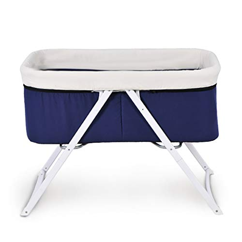 Big Save! Portable Crib Baby Bassinet Cradle Includes Gentle Rocking Feature Great for Newborns Ligh...