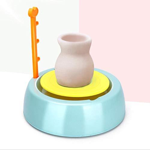 Explea Kit di Giocattoli per tornio, Kit di Artigianato per tornio in Terracotta, Ruota di Terracotta Fai-da-Te Ruota in Ceramica per Arti immaginative per Bambini dai 8 Anni in su