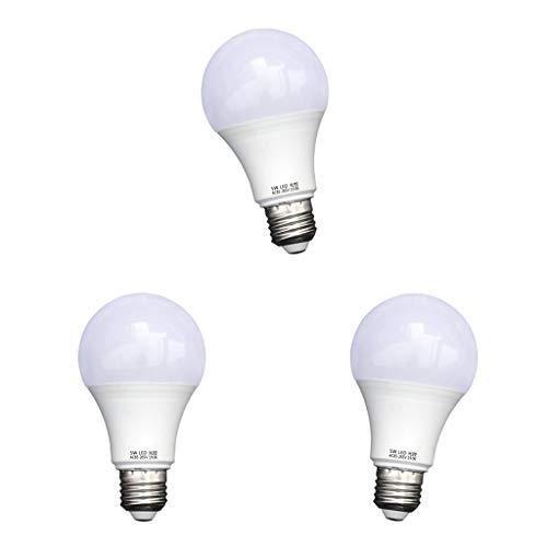 Amuzocity 3 Pcs 5W Dusk Till Dawn Sensor LED Lampadina Luce Decorativa di Sicurezza
