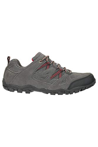 Mountain Warehouse Outdoor Men's Walking Shoes – Suede, Mesh Upper & Lining with 100% Rubber Sole, Cushioned Footbed…