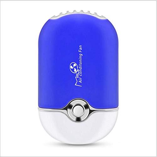 ZJUAN USB Wiederaufladbar Tragbar Kleiner Lüfter,wimpern Nagelkunst Mini Gebläsetrockner,batteriebetrieben Persönlicher Fan,bringen Sie Unterstützung Tischventilator Blau