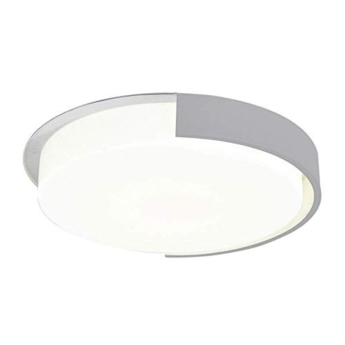 Lámpara de iluminación de panel acrílico blanco, lámpara de techo de montaje en descarga D Luz de modelado geométrico Luz de techo 45 * 45 * 8,5 cm (luz blanca, luz cálida, atenuación de los pasos) (c
