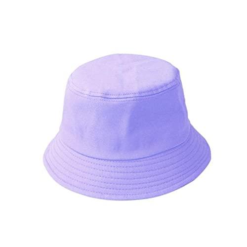 Sombrero de Cubo Plegable de Verano Color sólido Hip Hop de ala Ancha Playa Protección UV Tapa Redonda con protección Solar Gorra de Pescador