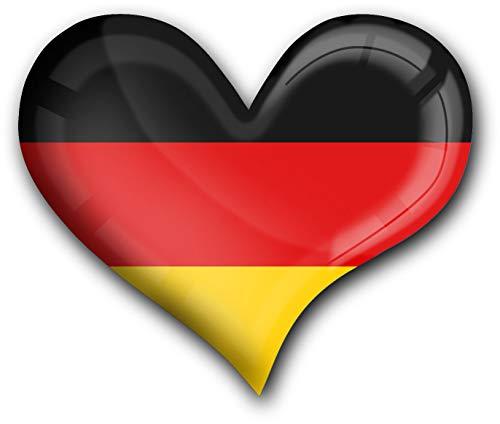 metALUm Herz Acrylmagnet mit starkem Neodym - Magnet Flagge Deutschland #1311009