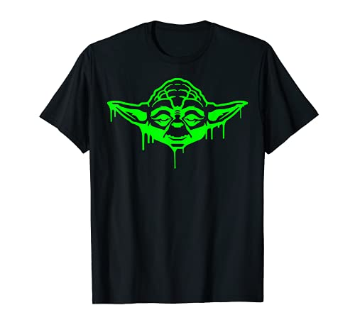 Star Wars Yoda Neon Tonal Green Oozing Face Drip T-Shirt