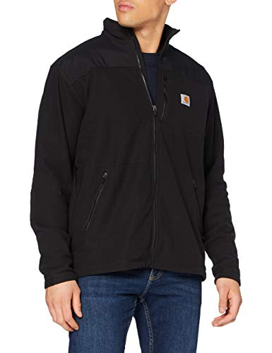 Carhartt Mens Fallon Full-Zip Sweatshirt, Black, L