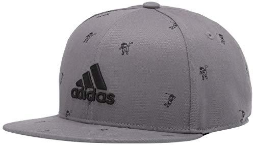 adidas Golf Flat Brim Hat, Grey Three, OSF