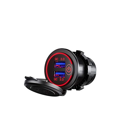 LIULIANG MeiKeL DIY QC3.0 Cargador DE USB Dual USB CAMBaje De Automóviles 60 Cm Cable con Ajuste De Fusible para Barcos De Coche De 12V / 24V Y Camión De Motocicleta Marina SUV UTV (Color Name : Red)