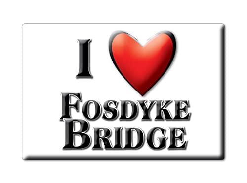 Enjoymagnets FOSDYKE Bridge (Eng) Souvenir IMANES DE Nevera Inglaterra England IMAN Fridge Magnet Corazon I Love