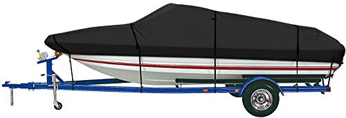 iCOVER Trailerable Boat Cover- 600D Water Proof Heavy Duty,Fits V-Hull,Fish&Ski,Pro-Style,Fishing Boat,Utiltiy Boats, Runabout,Bass Boat,up to 20ft-23ft Long X 100' Wide,PRO