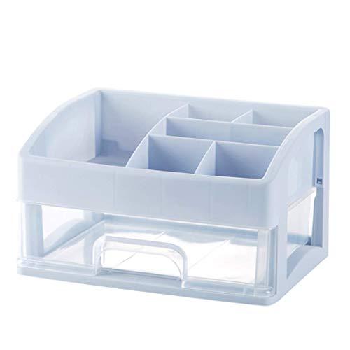 ZTMN Kosmetische Aufbewahrungsbox Kunststoff Einfache Desktop-Schublade Typ Lippenstift Schmuck Hautpflegeprodukte Aufbewahrungsbox (Farbe: A, Größe: 27 * 19 * 23 cm)