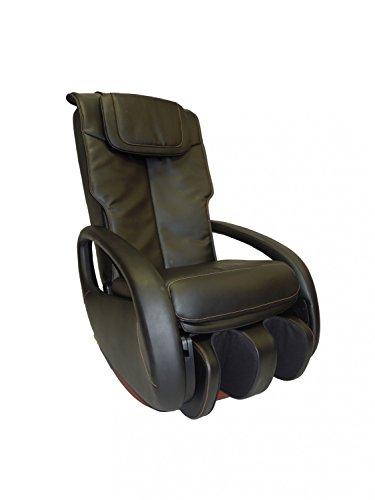 Massagesessel Premium Alpha Techno 2000 Klopf Knet Shiatsu Rollen Waden Fuß (schwarz)