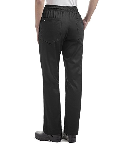 Womens Black Essential Chef Pant (Small)