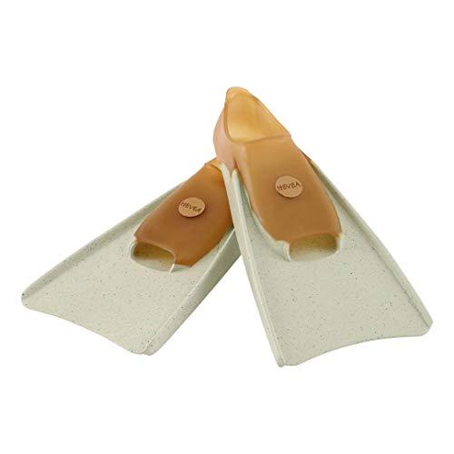 HEVEA Swim Fins Natural Rubber and Plastic Free (Mottled Mint, Medium)