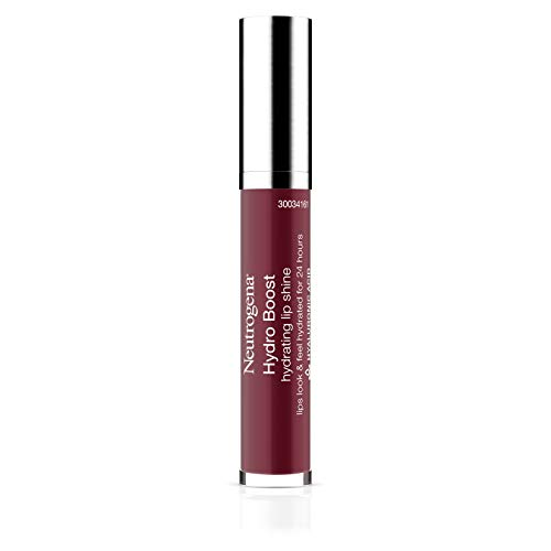 Neutrogena Hydro Boost Moisturizing Lip Gloss, Hydrating Non-Stick and Non-Drying Luminous Tinted Lip Shine with Hyaluronic Acid to Soften and Condition Lips, 100 Soft Mulberry, 0.10 oz