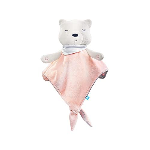 myhummy Einschlafhilfe Baby Doudou Basic rosa weiß   White Noise Baby Einschlafhilfe Kinder zur Baby Beruhigung   my hummy Einschlafhilfe Babys mit sanftem Ausklingen nach 1 Stunde