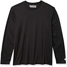 Champion Men's Long Sleeve Double Dry Performance T-Shirt, Black, Small