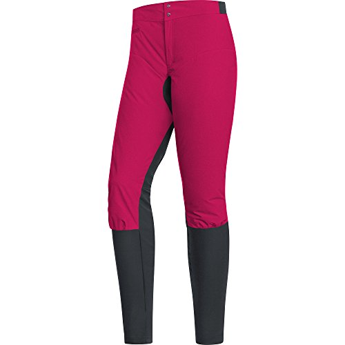 Gore Bike WEAR Damen Mountainbike-Hose, Gore Windstopper, Power Trail Lady Pants, Größe: 38, Pink/Schwarz, TLPOTR