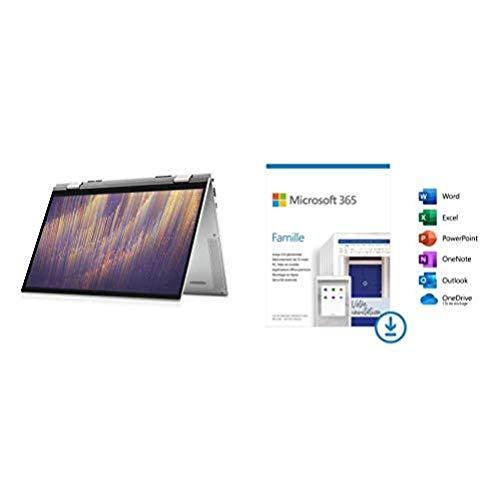 """Dell Inspiron 13 2-en-1 7306 Ordinateur Portable 13"""" Full HD Tactile Platinum Silver + Microsoft Office 365 Famille   Téléchargement"""