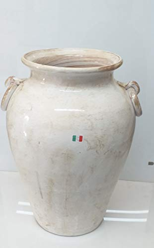 Pagano home portaombrelli porta ombrelli in ceramica decorato a mano Made in Italy altezza 50 cm. mod TORTORA