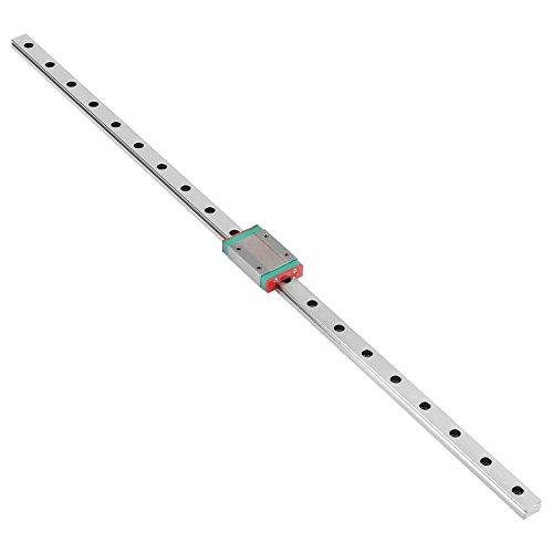 MGN12H Mini Lineare Schienenführung, 250/300/400/500 / 550mm Linear Schiebe Gide mit MGN12H Carriage Block für DIY 3D Drucker und CNC-Maschine(500mm)