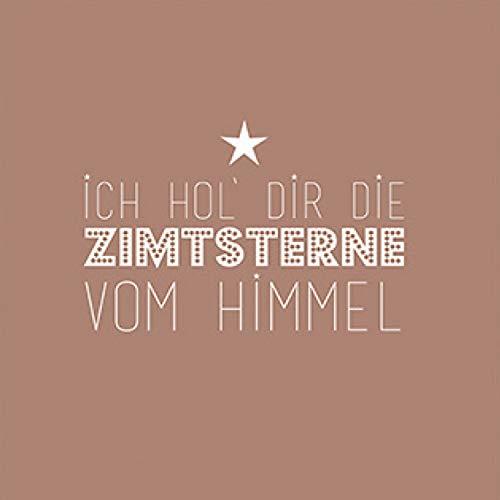 Serviettes de table-noël avec inscription en allemand'ich hol dir die zimtsterne du ciel