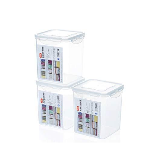 GCX Serbatoio di stoccaggio in plastica Trasparente sigillato for Alimenti in plastica (Size : 2.4L)