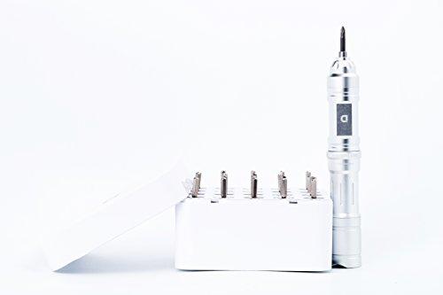 Destornillador Eléctrico Recargable - Destornillador Inalámbrico de Precisión con 20 Funciones Extra Diferentes y Dispensador / Receptor Automático de Bits