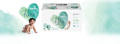 Diapers Newborn/Size 0 (<10 lb), 68 Count - Pampers Pure Protection Disposable Baby Diapers, Hypoallergenic and Unscented Protection, Super Pack (Old Version)