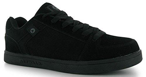 Brock Herren-Sportschuhe, Wildleder, Skate-Schuhe, Schwarz - Schwarz - Größe: 40 2/3 EU