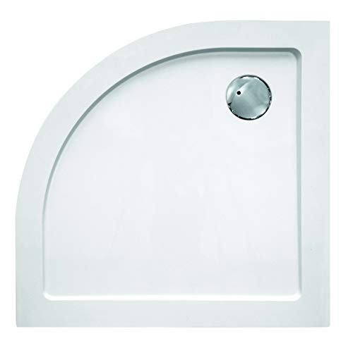 OrionShop Piatto doccia Ultrasottile STIGE Semicircolare 80x80cm H3,5 in SMC Bianco Curvatura 55cm