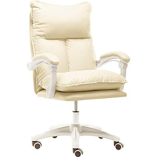 Silla de oficina silla de la computadora ninas Silla de oficina linda comodo largo que se sienta Inicio E-Sports Presidente vivo jefe silla con reposapies (Opcional) adecuados for la oficina y el estu