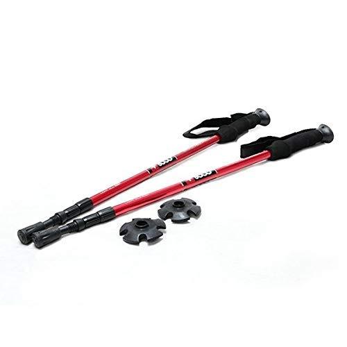 +8000 bt148001 Hiking-Trekking Poste de extensión, 2 Unidades – Rojo, 64 A 135 cm