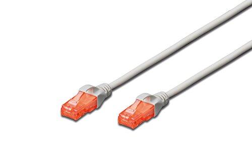 DIGITUS Cat 6 U-UTP Patch Cable, 1.5m, Network LAN DSL Ethernet Cable,...
