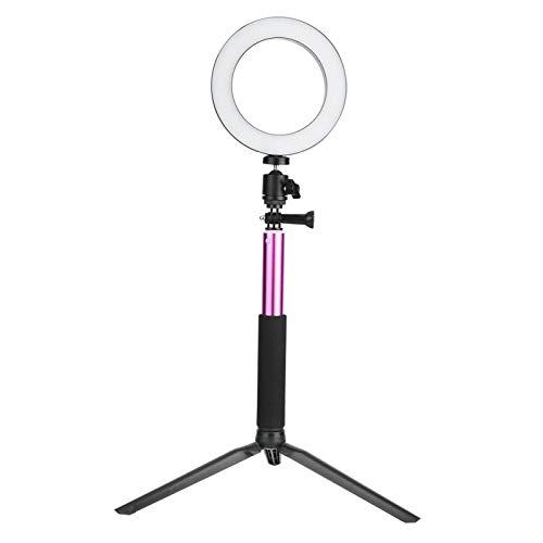 Luce ad Anello per Fotocamera, Kit Luce ad Anello per Alimentazione USB Foldablde Dimmerabile a 10 Livelli con Supporto per Cellulare per Studio Fotografico per Live for Beauty for